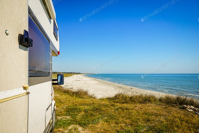 Camping by the Sea with Camper Van