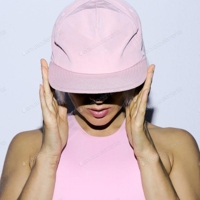 Rnb Girl in a cap Urban style fashion club style