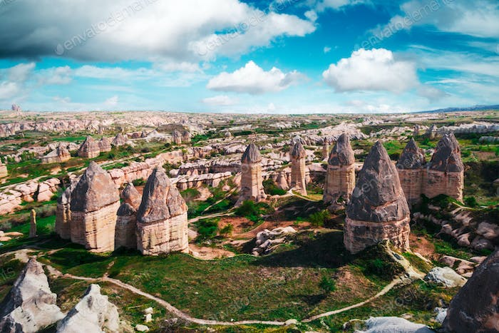 Famous Love valley in Cappadocia