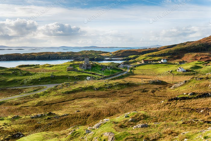 Rodel on the Isle of Harris in Scotland