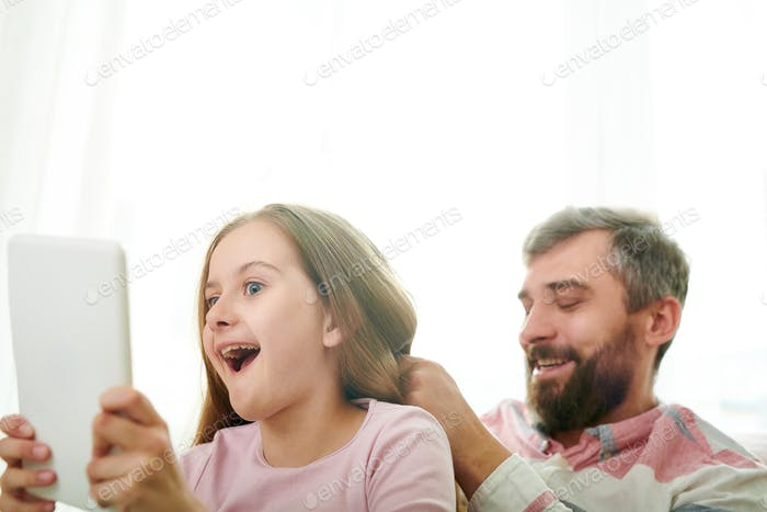 Taking Funny Selfie with Dad