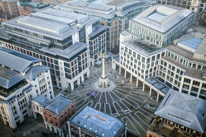 View of Paternoster Square, London, UK