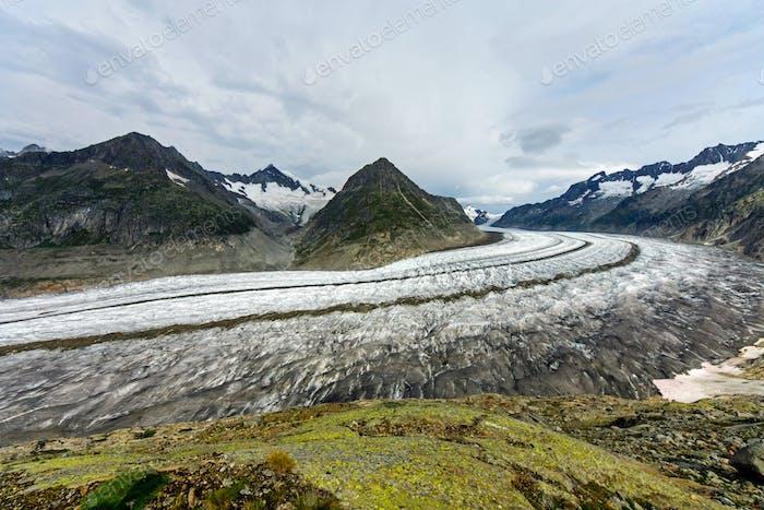 El gran glaciar Aletsch
