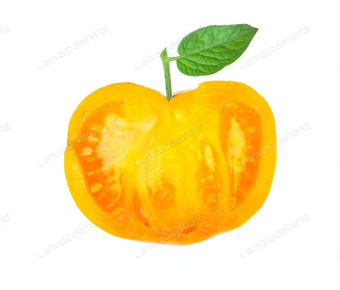 Yellow tomato slice