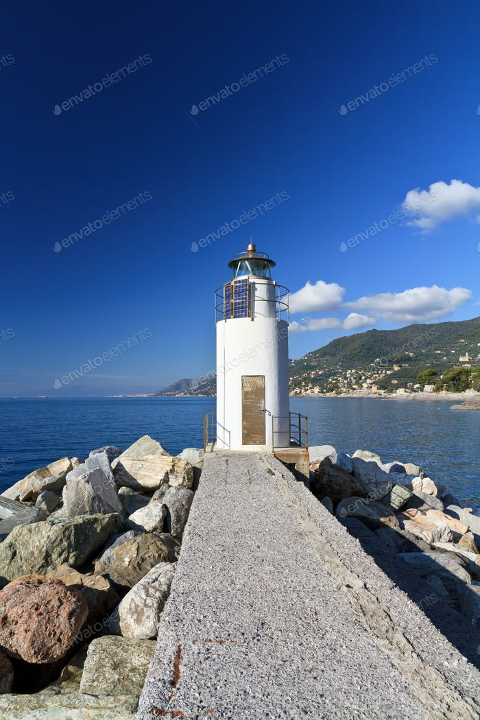lighthouse in Camogli