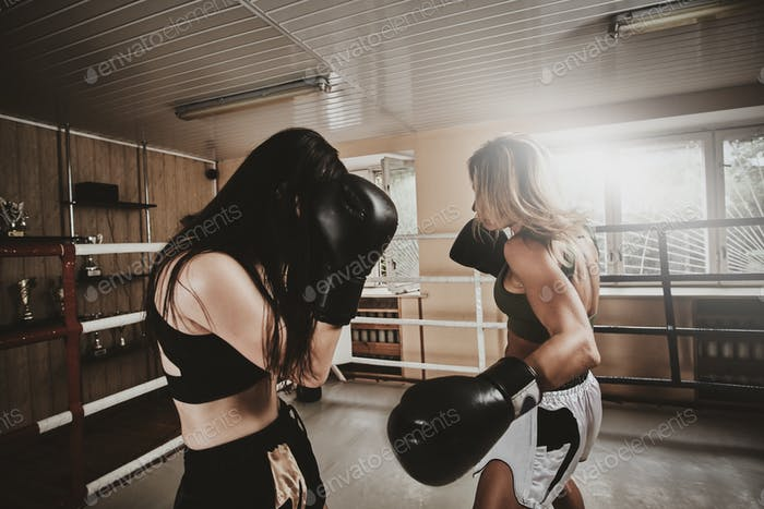 Coach and her new trainee have a sparring