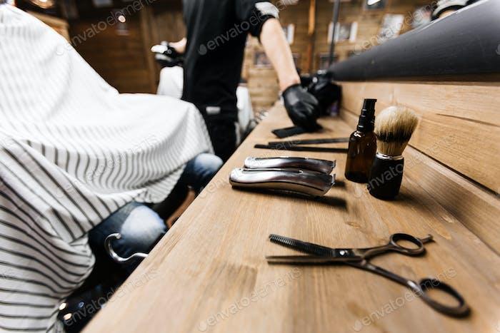 Set of hairdresser