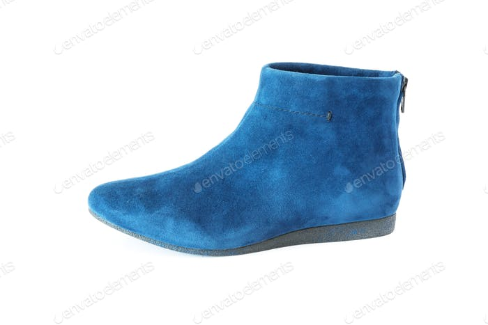 Blue Women's Suede Boot