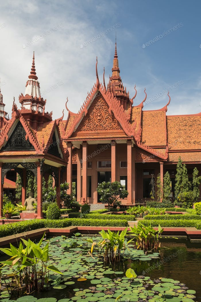National Museum of Cambodia and courtyard, Phom Penh, Cambodia