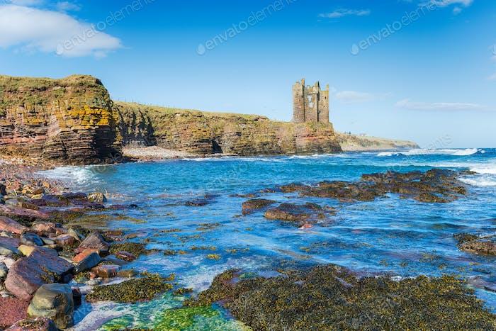 Keiss Castle in Scotland