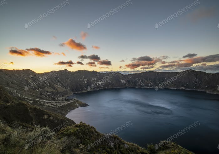 Lake Quilotoa in Ecuador
