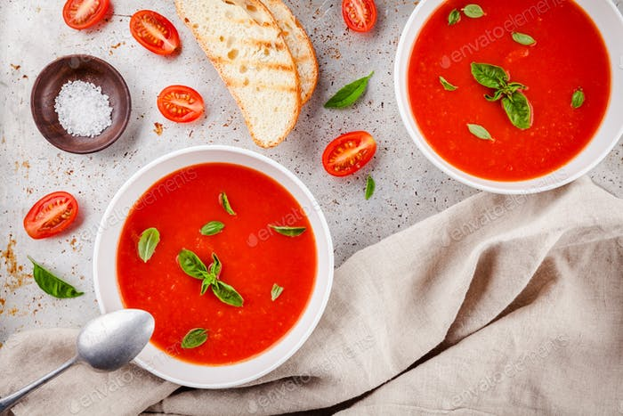 kalte Tomatensuppe Gazpacho