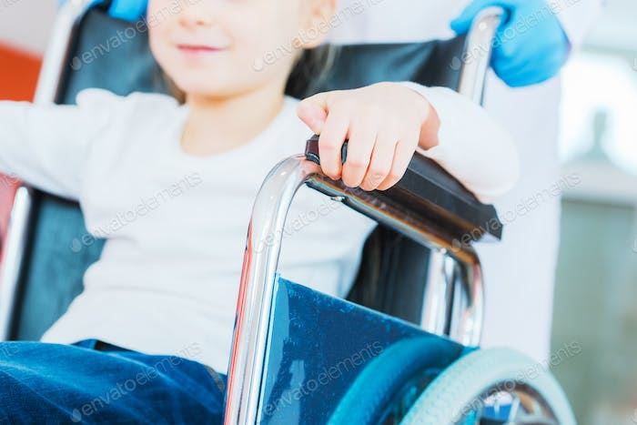 Disabled Girl on Wheelchair