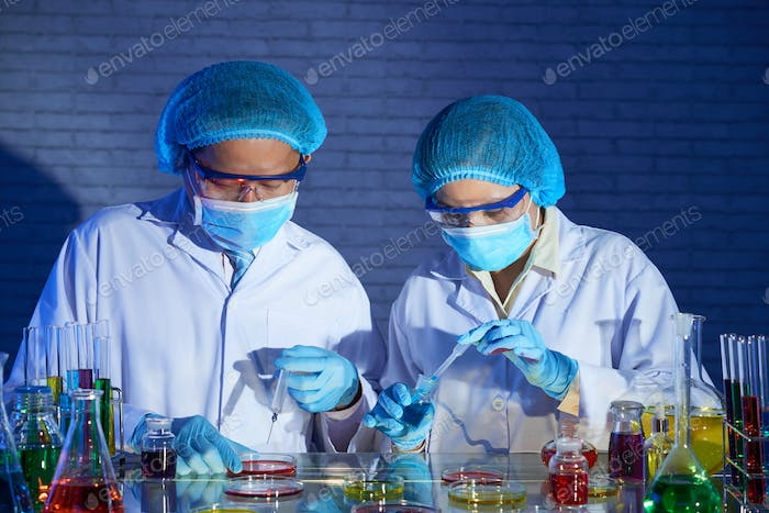 Researchers working on vaccine