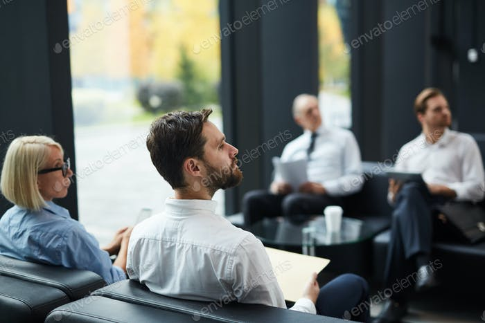Meeting in lounge