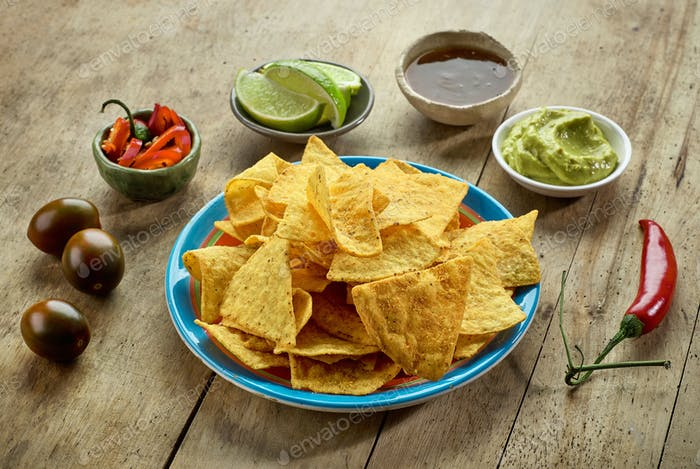 Mexican food Nachos chips