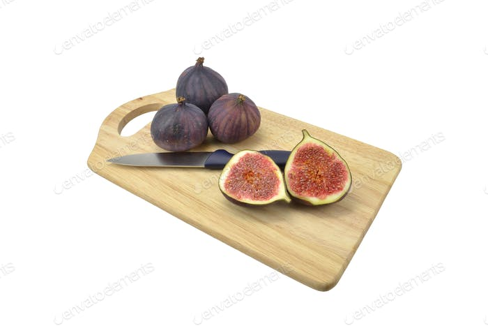 Figs on a Wooden Chopping Board