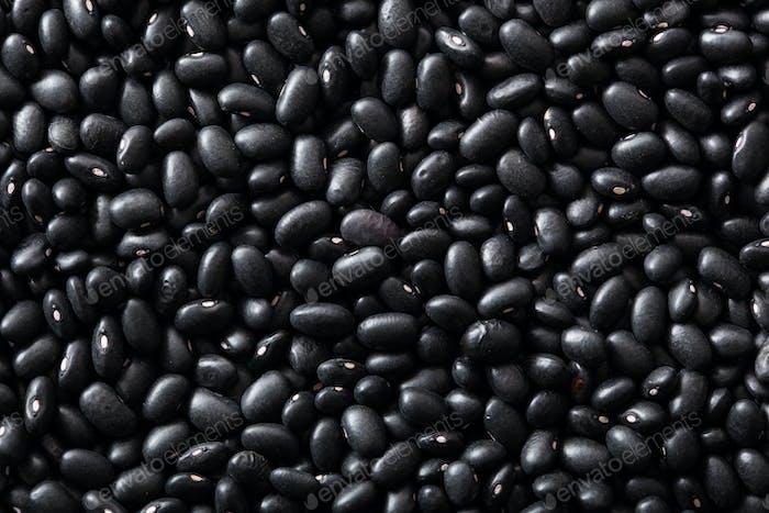 black turtle beans legumes background
