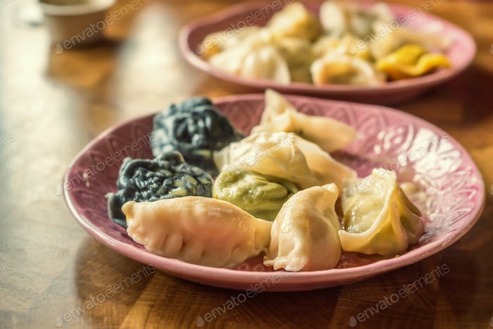 Variety of dumplings