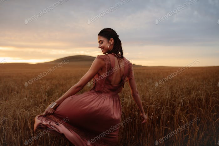 Rejoicing her freedom in nature