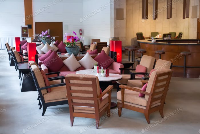 hotel reception, lobby