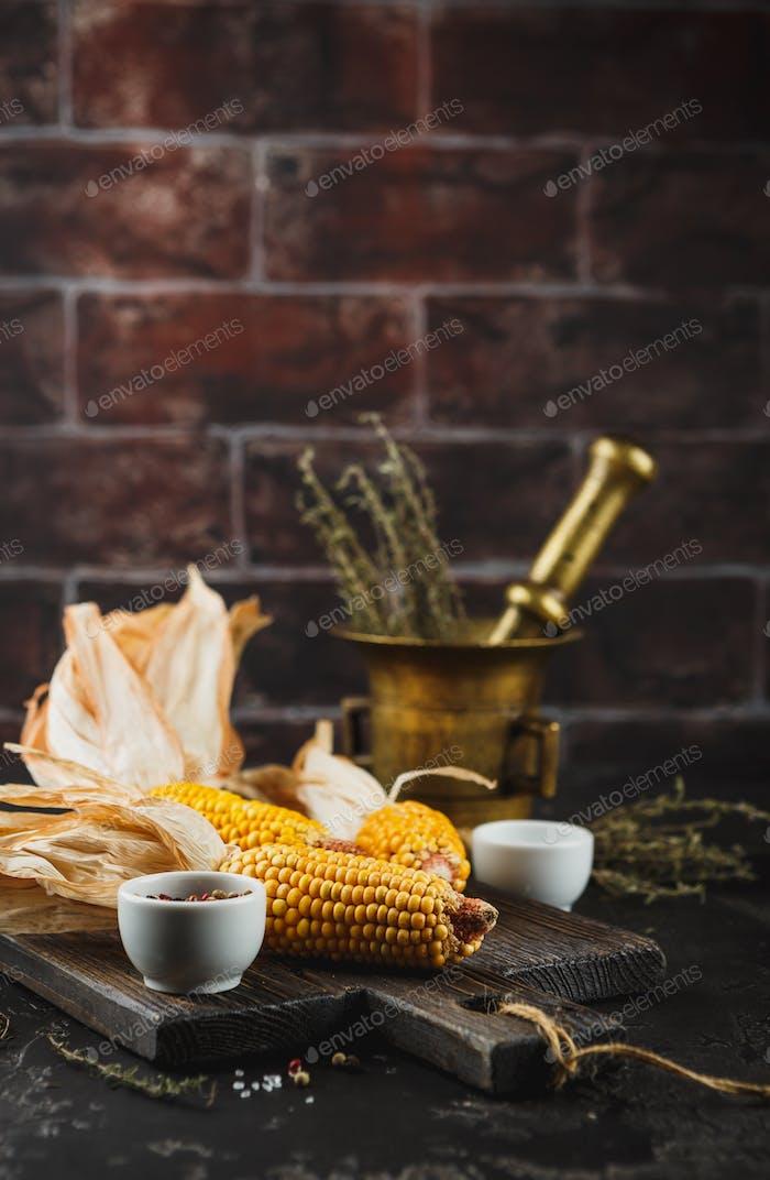 Corn on cobs