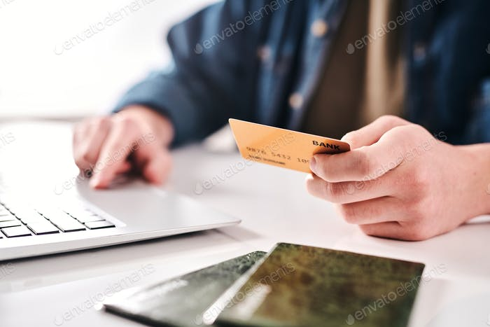 Paying online with bank card