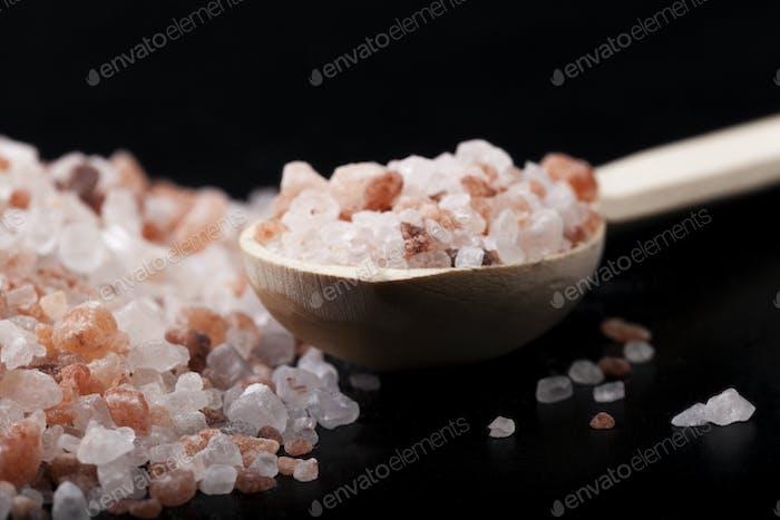 Salt Spoon On Black