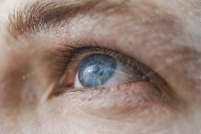 Humano ojo azul macro tiro