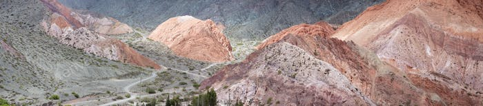 Purmamarca, colorful mountains in Argentina