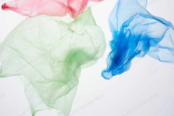 Verworfene Plastiktüten