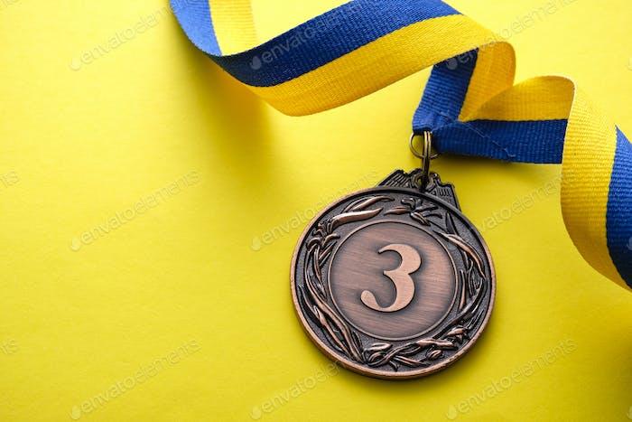 3. Platz Bronzemedaillon für einen Zweitplatzierten