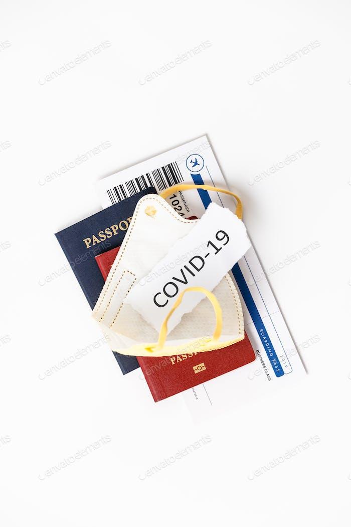 Coronavirus y concepto de viaje