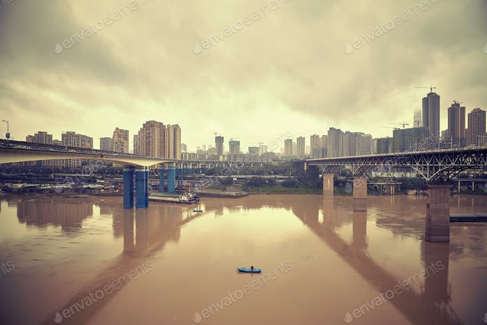 Chongqing waterfront, China.