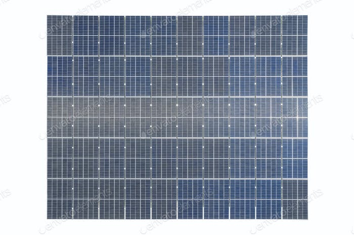 solar panels on roof isolated