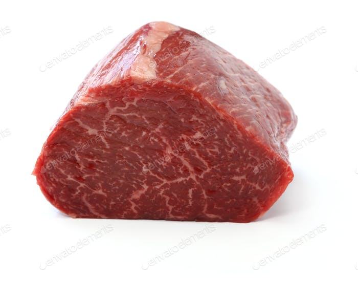 raw beef rump block meat