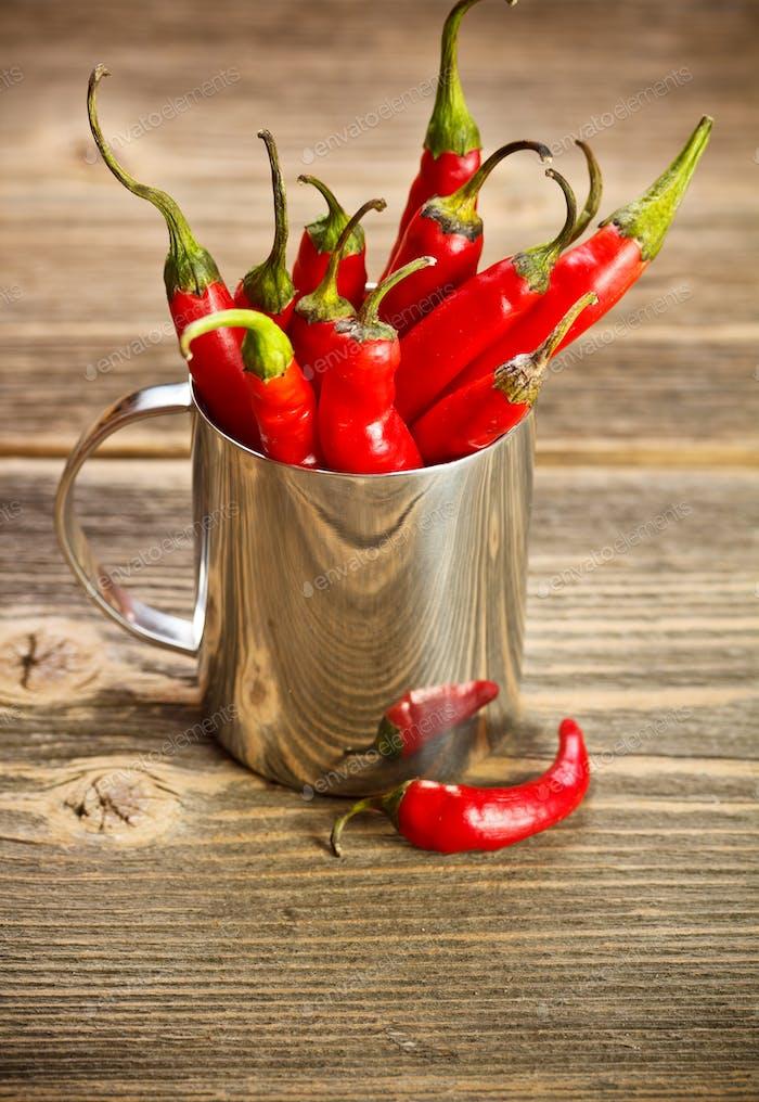 Chili Bündel in Tasse