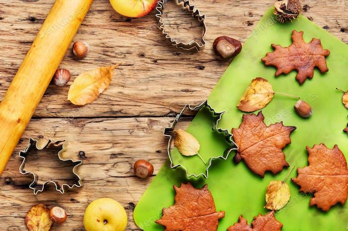 Autumnal symbolic cookies
