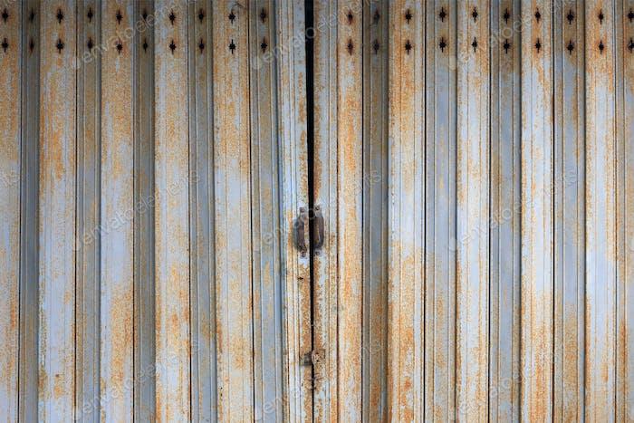 Old Rusty Metal Door in Thailand