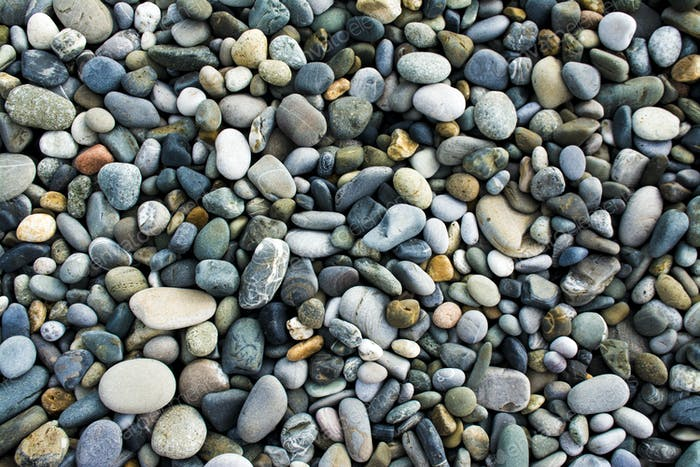 Sea gravel pebbles background