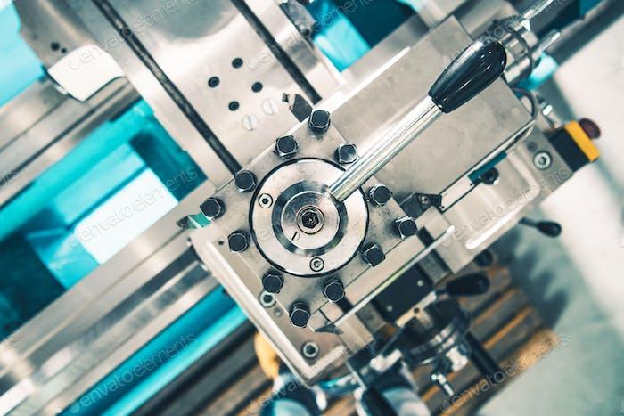 Metal Lathe Adjustment Closeup