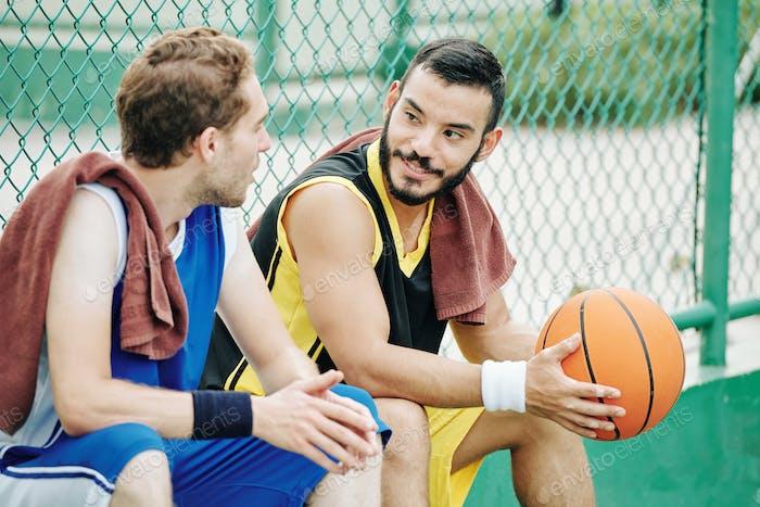 Talking basketball players