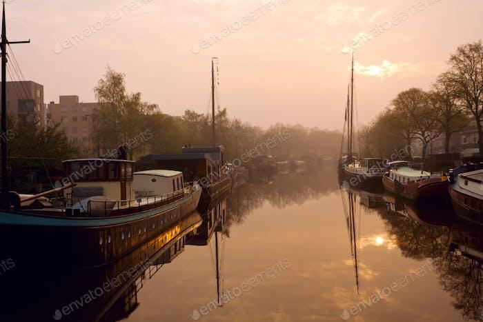 frühmorgens in Groningen