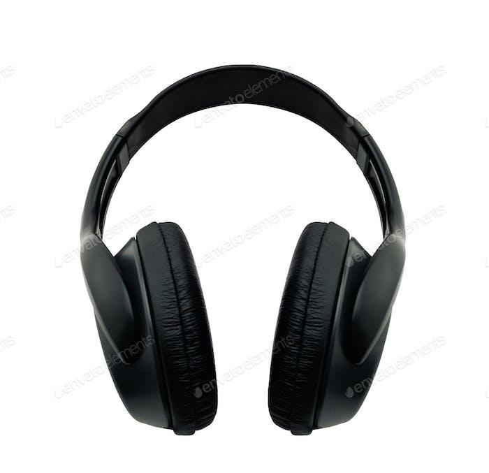 black headphone isolated