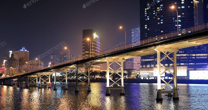Nam Van Lake Macau- 22 January 2019: Macau at night