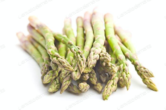 Fresh green asparagus.