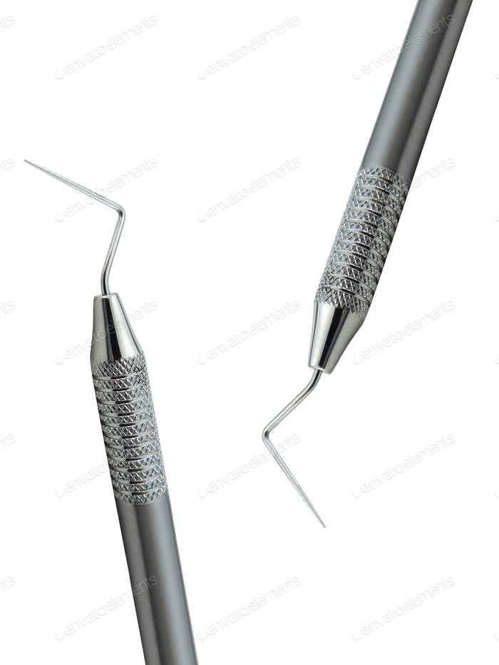 dental probe isolated