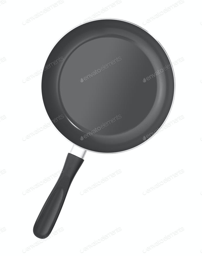 empty pan isolated