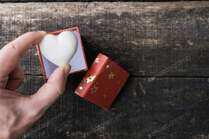 Conceptual image of romance and valentines day