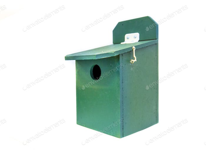 Professional green birdhouse